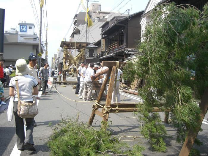 祇園祭鉾建て