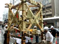 祇園祭2010年その1鉾建て