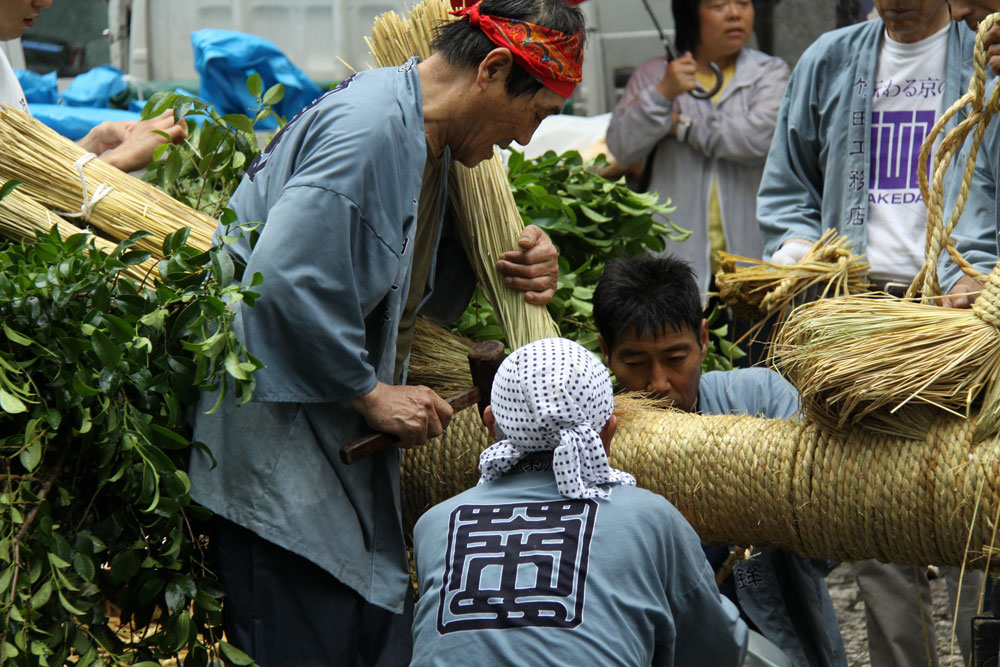 祇園祭鉾建・菊水鉾